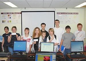 Teens Computer School students